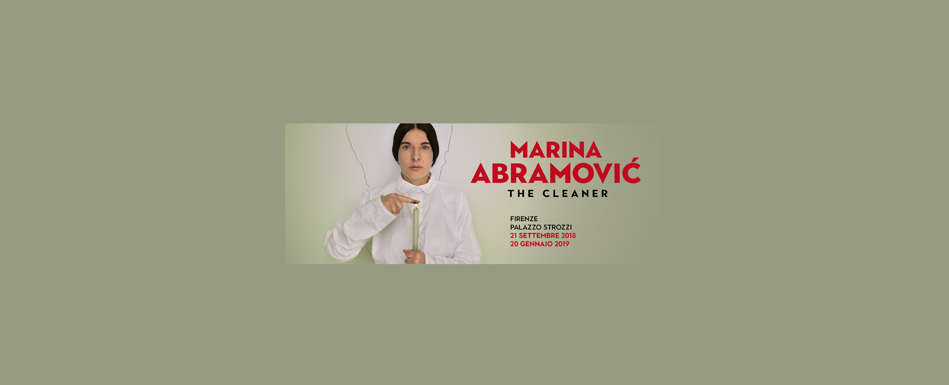 Mostra Marina Abramovic The Cleaner a Firenze